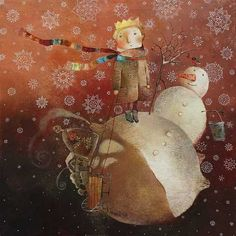 by Anna Silivonchik the little prince National Art Museum, Guache, Funky Art, The Little Prince, Naive Art, Russian Art, Children's Book Illustration, Whimsical Art, Contemporary Paintings