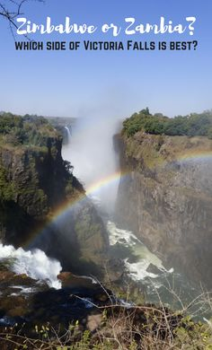 Where Is The Best Place To Stay To Visit Victoria Falls - Zimbabwe or Zambia? Find out more about Visa Costs, Accommodation Options, Activities & More here!