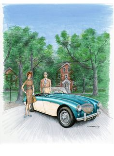 My art for the British Motoring Festival 2013 poster © Paul Chenard 2013