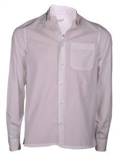 VALENTINO Valentino Rockstud Collar Shirt. #valentino #cloth #shirts