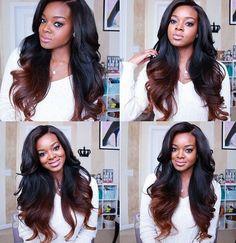 Ombre Remy Hair Weave  http://www.sishair.com/    #hair #wigs  #hairweaves  #virginhair  #remyhair  #laceclosure  #clipinhair  #hairextensions   #humanhair
