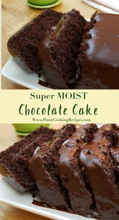 Super moist Chocolate cake with creamy chocolate frosting.