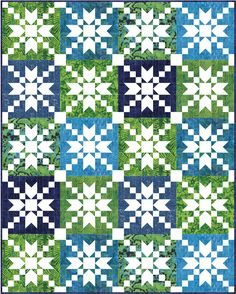 Sew Fresh Quilts: Positive/Negative Twin Quilt Tops - I think it would be good to combine the positive and negative. 5 columns by 7 rows. Outside blocks and center blocks positive with the blocks touching the outside blocks negative, Quilting Tutorials, Quilting Projects, Quilting Designs, Quilting Tips, Star Quilt Patterns, Star Quilts, Cute Quilts, Baby Quilts, Patch Quilt