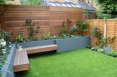 Share Tweet Pin Mail Garden Design chelsea screen raised beds wonderful planting artificial grass floating hardwood bench anewgarden