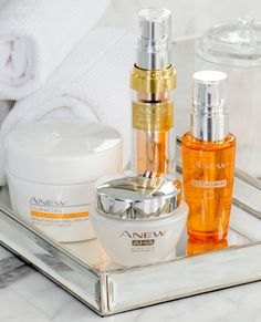 High performance skincare treatments with advanced results. Featuring ANEW AHA Refining Cream, ANEW Vitamin C Brightening Serum, ANEW Power Serum and ANEW Clinical Extra Strength Retexturizing Peel Pads.