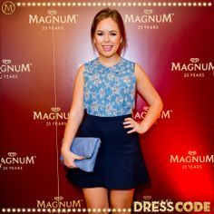 Fashion & beauty vlogger Tanya Burr joins us #MagnumDressCode