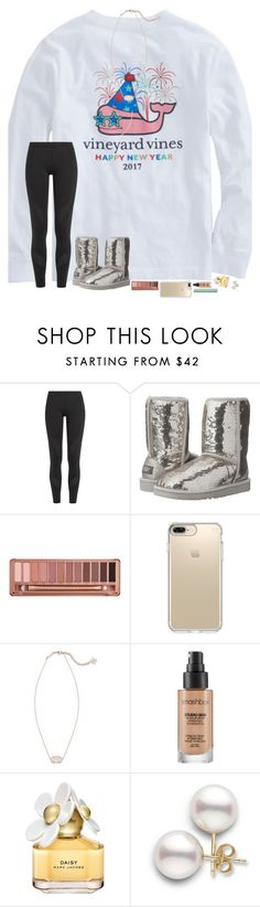 """""""happy New Year's Eve!!"""" by hopemarlee ❤ liked on Polyvore featuring Vineyard Vines, adidas, UGG Australia, Urban Decay, Speck, Kendra Scott, Smashbox, Marc Jacobs and Too Faced Cosmetics"""
