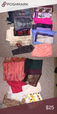 Scarf bundle!!!! $4 each! Will ship next day PLEASE HELP ME GET RID OF THESE. BRAND NEW SCARVES. $2 each Accessories Scarves & Wraps