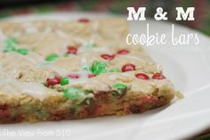 Christmas Cookie Bars An easy (and yummy) cookie exchange recipe