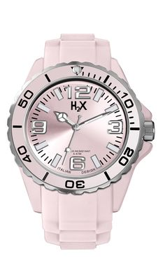 H2X REEF LADY: orologio da polso da unisex con movimento al quarzo analogico e cassa in silicone 50mt water proof