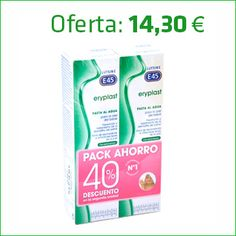Promociones activas únicamente en la Farmacia hasta fin de existencias Eriplast pasta al agua para la piel del bebé. Pack ahorro 40% descuento.