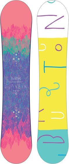 Burton Feather Women's Snowboard - 140 top/yellow base - Snowboard Shop > Snowboards > Women's Snowboards