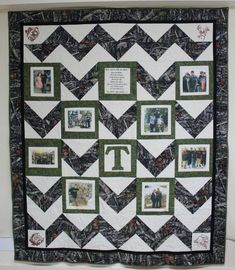 Photo Memory Quilt With 8 Pictures lap quilt with by CannStitch