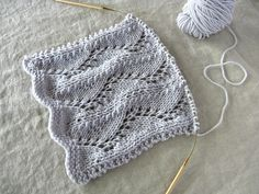 road not taken shawl/scarf/quince yarn/frost  love this stitch pattern...this…