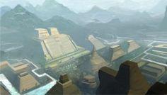 Aztec City by Chiara-Maria on DeviantArt Ancient Aztecs, Ancient Civilizations, Aztec City, Mesoamerican, Sword And Sorcery, Ancient Architecture, Sci Fi Fantasy, Concept Art, Culture