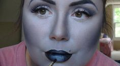 Greyscale Makeup Tutorial to look like a black and white film star! Perfect for Halloween!