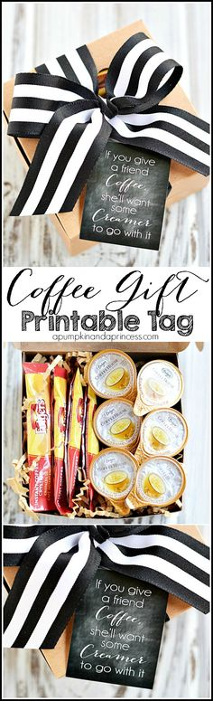 DIY Coffee Gift Ideas - Printable Gift Tag