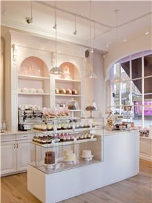 The interior of Peggy Porschen Cakes