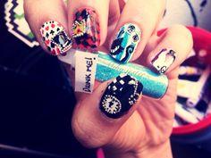 alice and wonderland nail art - Pesquisa Google