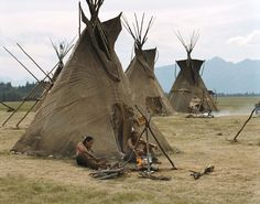 Plains Indians Teepee Village | the plains indians typically lived in one of the most