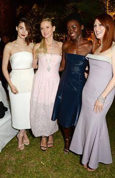 Pin for Later: Le glamour est au rendez-vous au festival de Cannes !  Rooney Mara, Naomi Watts, Lupita Nyong'o et Julianne Moore à la soirée Calvin Klein, jeudi.