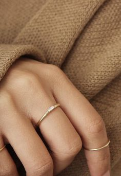 Our Baguette Diamond Ring is delicate and sophisticated; set in a 14k solid gold band, it's built to go with you, no matter the circumstance.