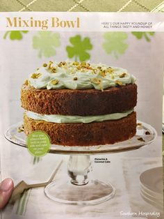 Mom loves to try out new recipes and Taste of Home is one of her favorite magazines that she continues to get and try out their recipes.  They have down home, real recipes for normal folks and their desserts are a favorite of hers.  She saw this beautiful Pistachio cake recently and decided to try it.  Short cut, it is made with a boxed cake mix, so yay for that.  Sometimes we need short cuts!  This is the February/March issue if you're interested and they also have an online site, ...