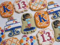 Gymnastics Party Cookie Favors Gymnast Cookies by MartaIngros