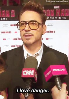 """RDJ's answer to """"Do you know about tumblr?"""" GIF. Love him."""