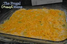 Simple Cheesy Broccoli & Chicken Casserole (Freezable Recipe) | The Frugal Greenish Mama