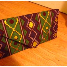 Hand made clutch bag- using African inspired fabric
