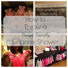 Throw a budget friendly lingerie shower! Tips and ideas here...