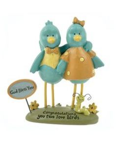 Bluebirds Wedding Cake Topper