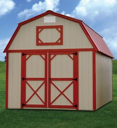 Painted Lofted Barn shed