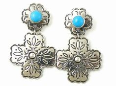 Sterling Silver Sleeping Beauty Cross Earrings by Mike Thompson, Navajo for $158.00 | Native American Jewelry | Fall Fashion - See more at: http://www.southwestsilvergallery.com/asccustompages/products.asp?productID=21830#sthash.jMExe3Ev.dpuf