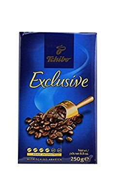 Tchibo Exclusive gourmet German coffee. Man,  is this stuff good