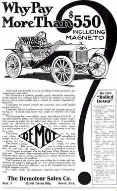 1910 Demot Automobile Advertisement