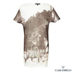 Camiseta Casual estampada de la Coleccion Femenina de Caramelo