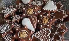 Fun Cookies, Cake Cookies, Bread Display, German Cookies, Czech Recipes, Cake Bars, Bread Cake, Christmas Cooking, Biscuits