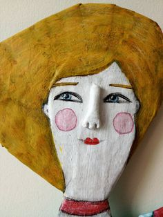 articulated paper mache art doll by sarah hand