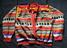 Panels of fine patchwork decorate this colorful man's shirt from a Seminole community in Florida, USA