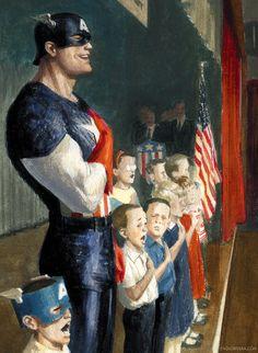 """Mythos: Captain America, Page Panel 3 detail"" by Paolo Rivera Marvel Comics, Marvel Heroes, Marvel Dc, Comic Book Heroes, Comic Books Art, Comic Art, Superman, Batman, Jack Kirby"