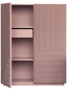 DOT AND ILLUSION. A cabinet, sideboard and stools custom designed for an exhibition for Kvadrat in Stockholm to accentuate the fabrics tactile role of an object. Photo: Patrik Sehlstedt and Nina Broberg Pink Wardrobe, Wardrobe Design, Wardrobe Closet, Media Furniture, Cabinet Furniture, Furniture Design, Storage Cabinets, Tall Cabinet Storage, Armoire