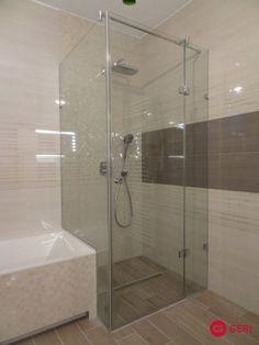 Sklenený sprchový box s fixným panelom na vani Bathtub, Bathroom, House, Standing Bath, Bath Room, Bath Tub, Home, Bathrooms, Haus