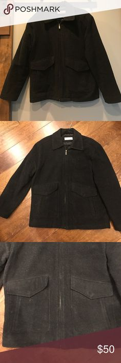 Joseph abboud wool coat Great condition. Blackish/charcoal wool blend outerwear coat. Purchased from a high end department store. joseph abboud Jackets & Coats
