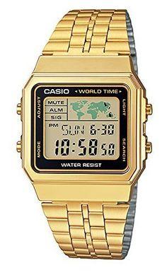 CASIO MEN'S DIGITAL WORLD TIME A500WGA-1DF STAINLESS STEEL WATCH [Watch], http://www.amazon.com.mx/dp/B00N5TJ0PY/ref=cm_sw_r_pi_awd_LByQvb1GGW5PB