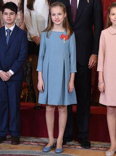 Un vestido muy parecido al que llevó en la Primera Comunión de su hermana Sofía