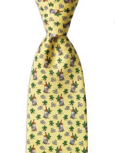 Mint Julep Afternoon Silk Tie