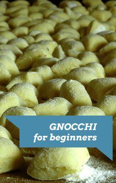 Rachael Ray: Potato Gnocchi Recipe for Beginners Potato Gnocchi Recipe, Gnocchi Recipes, Gnocchi Dishes, Pasta Dishes, Pasta Recipes, Entree Recipes, Veggie Recipes, Vegetarian Recipes, Cooking Recipes