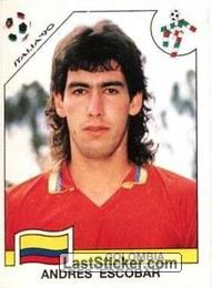 Sticker 291: Andres Escobar - Panini FIFA World Cup Italia 1990 - laststicker.com